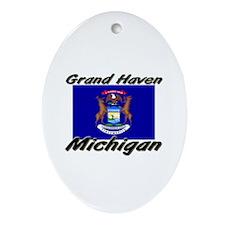 Grand Haven Michigan Oval Ornament