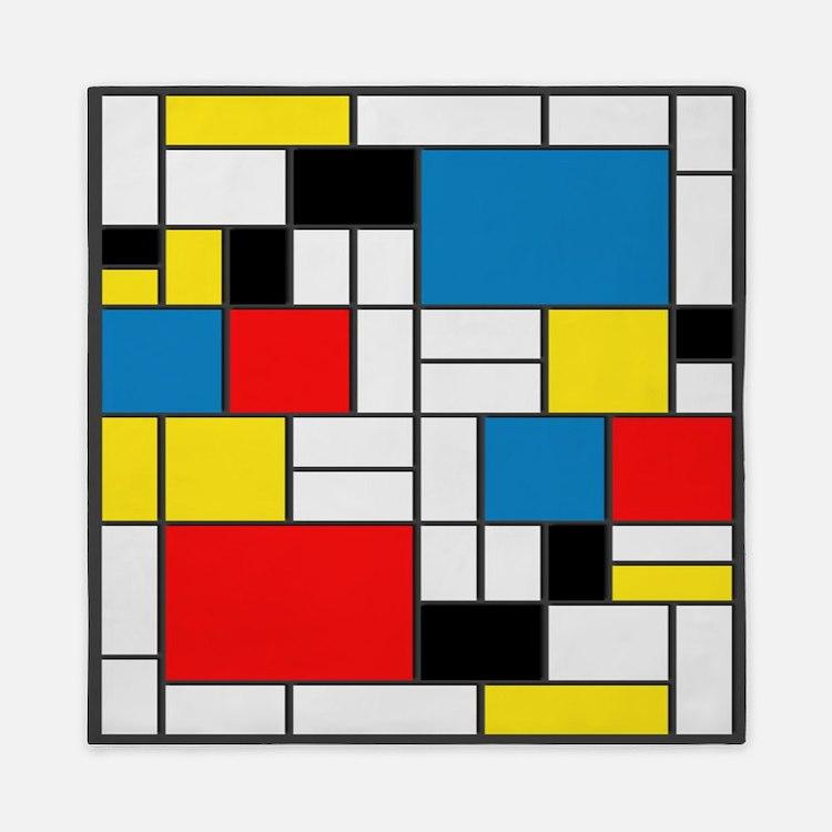 Mondrian-6b Queen Duvet