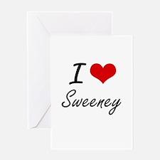 I Love Sweeney artistic design Greeting Cards
