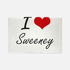 I Love Sweeney artistic design Magnets