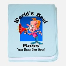 Worlds Best Boss baby blanket