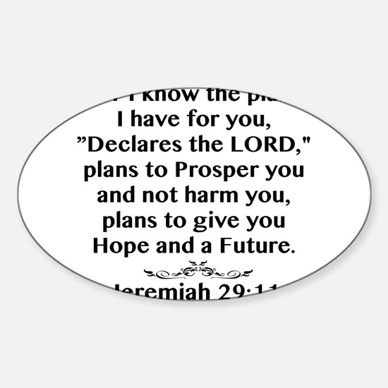 Jeremiah 29:11 Black Print Decal