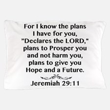 Jeremiah 29:11 Black Print Pillow Case