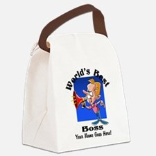 Worlds Best Boss Canvas Lunch Bag
