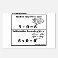 PROPERTIES OF ZERO in Additio Postcards (Package o