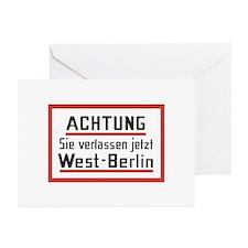 Sie verlassen jetzt West-Berlin Greeting Cards (Pk