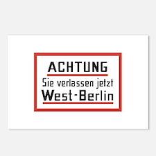 Sie verlassen jetzt West-Berlin Postcards (Package
