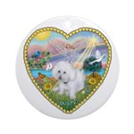 Heart - Cloud Angel & Dusty Ornament (Round)