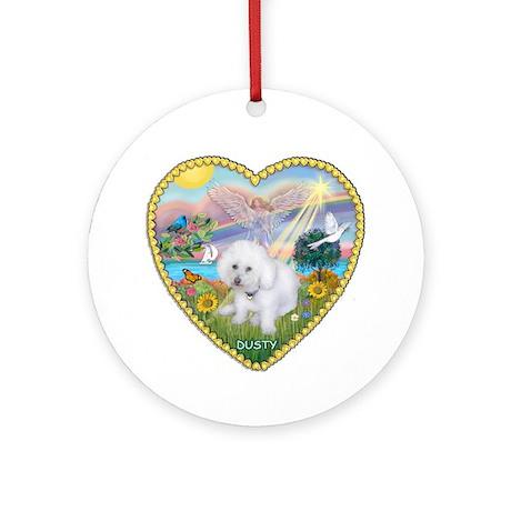 Heart - Cloud Angel & Dusty Ornament (Round)