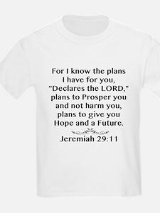 Jeremiah 29:11 Black Print T-Shirt