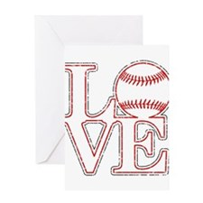 Love Baseball Classic Greeting Cards