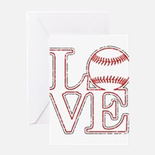 Love Baseball Classic Greeting Cards