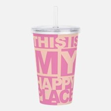 Happy Place Acrylic Double-wall Tumbler