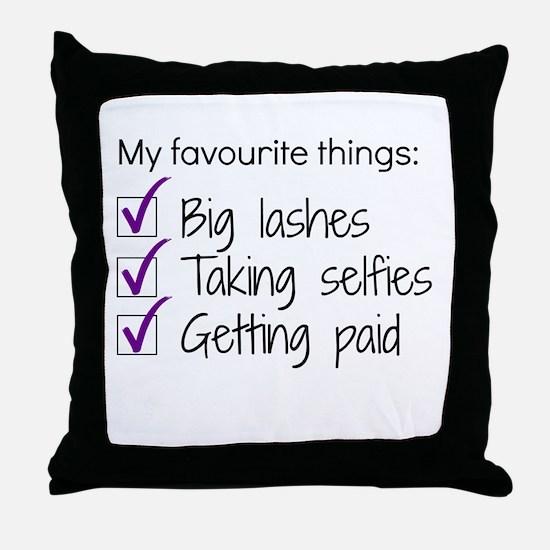 Favourite Things Makeup Throw Pillow