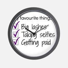 Favourite Things Makeup Wall Clock