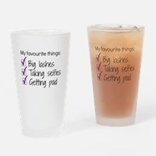 Favourite Things Makeup Drinking Glass