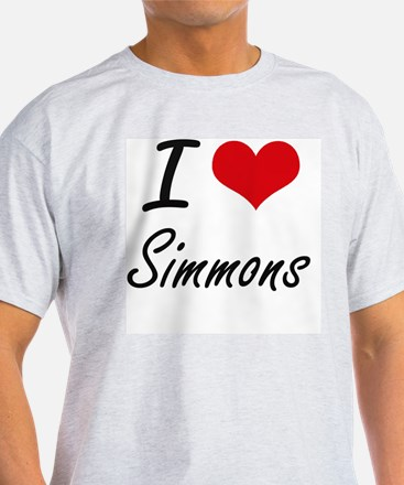 I Love Simmons artistic design T-Shirt