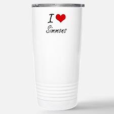 I Love Simmons artistic Stainless Steel Travel Mug