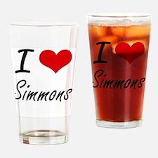 I Love Simmons artistic design Drinking Glass