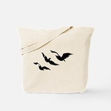 divergent bird blk bevel Tote Bag