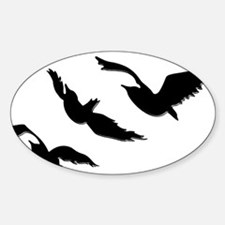 divergent bird blk bevel Decal