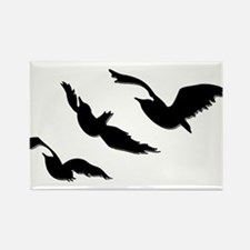 divergent bird blk bevel Magnets