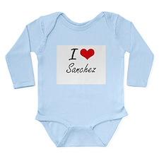 I Love Sanchez artistic design Body Suit