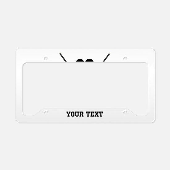 Ice Hockey Personalized License Plate Holder