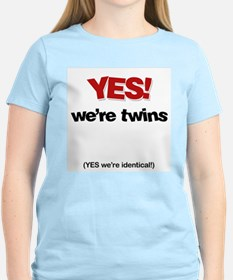 Unique Yes twins T-Shirt