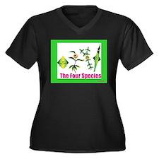 The Four Species Sukkot Women's Plus Size V-Neck D
