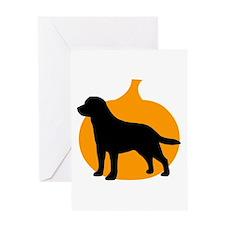 Labrador Retriever Halloween Greeting Card