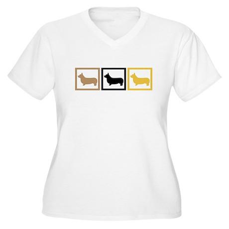 Corgi Women's Plus Size V-Neck T-Shirt