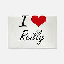 I Love Reilly artistic design Magnets