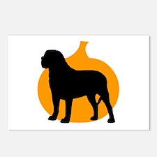 Mastiff Halloween Postcards (Package of 8)
