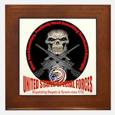 Military Special Forces Framed Tile