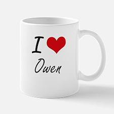 I Love Owen artistic design Mugs