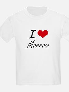 I Love Morrow artistic design T-Shirt