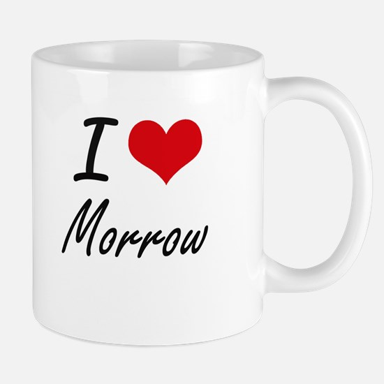 I Love Morrow artistic design Mugs