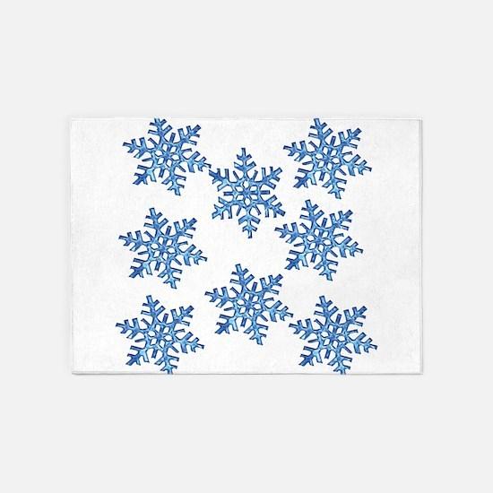 Snowflake 5'x7'Area Rug