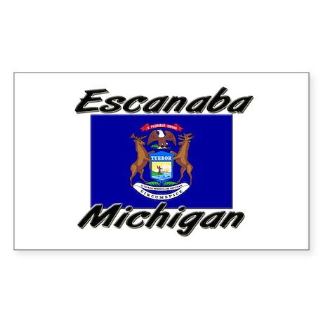 Escanaba Michigan Rectangle Sticker