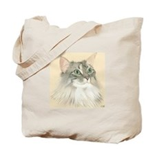 Norwegian Forest Cat Painting Tote Bag