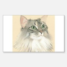 Norwegian Forest Cat Painting Decal