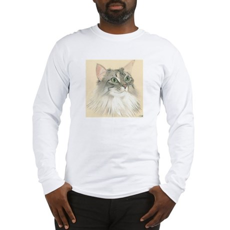 Norwegian Forest Cat Painting Long Sleeve T-Shirt