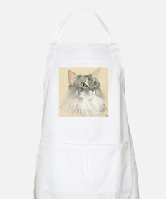 Norwegian Forest Cat Painting Apron