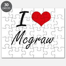 I Love Mcgraw artistic design Puzzle