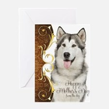 Husky Mother's Day Greeting Cards