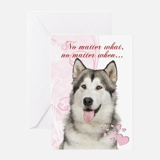 Husky Valentine Greeting Cards