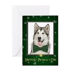 Husky St. Patrick's Day Greeting Cards