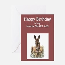 Happy Birthday Smart Ass Funny Donkey Greeting Car