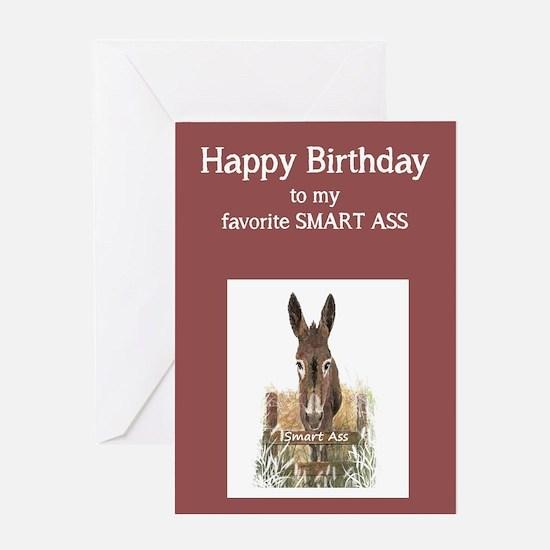 Happy Birthday Smart Ass Funny Donkey Greeting Car